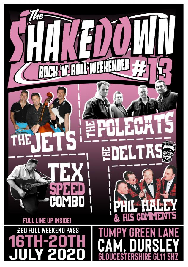 13th Shakedown Rock and Roll Weekender poster