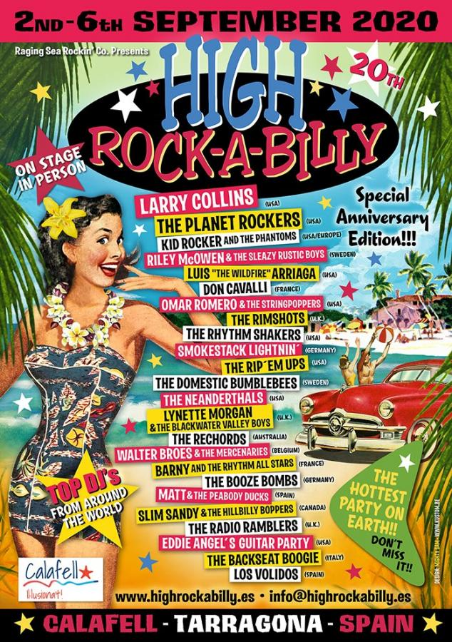 20th High Rockabilly 2020 poster