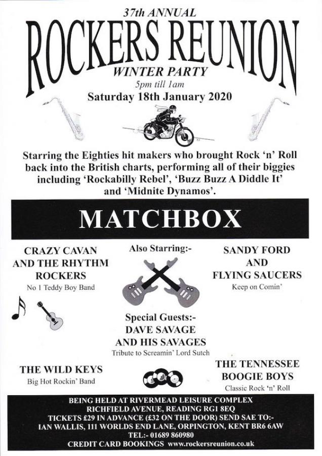 37th Annual Rockers Reunion Winter Party poster