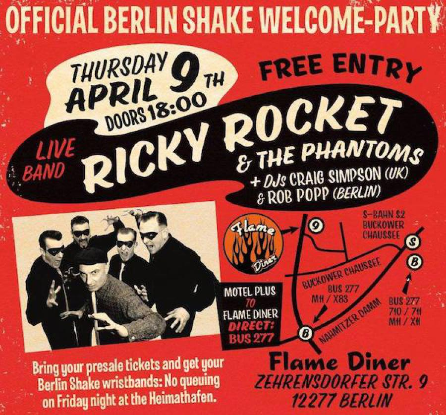 Berlin Shake Welcome Party 2020 poster