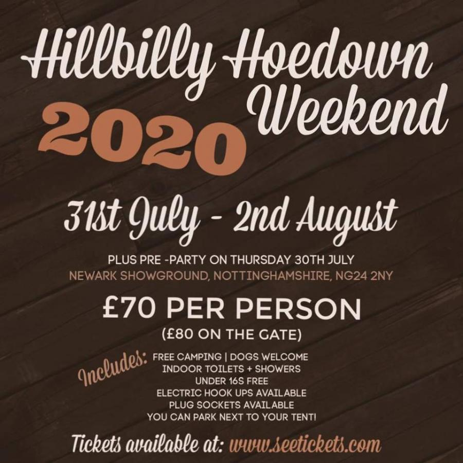 Hillbilly Hoedown Weekend 2020 poster