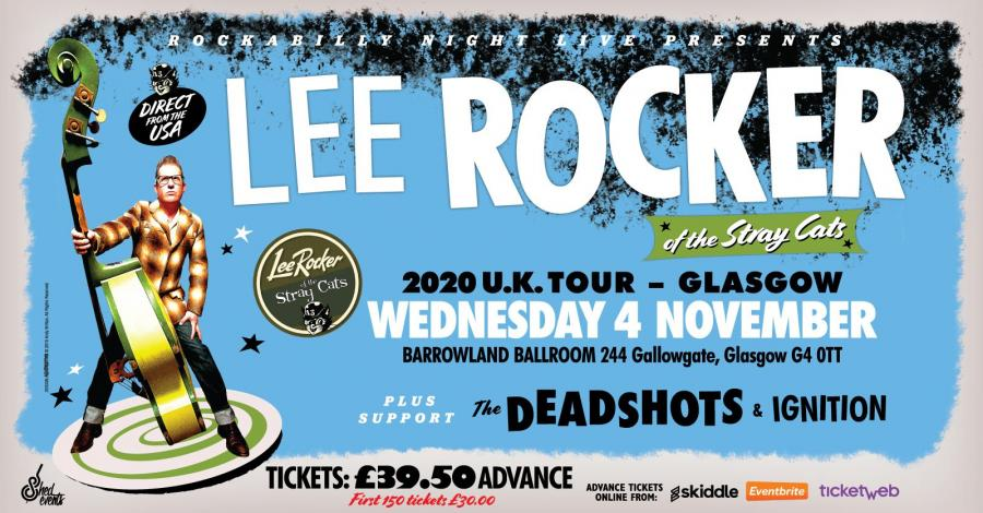 Lee Rocker (of The Stray Cats) + Support From The Deadshots & Ignition poster