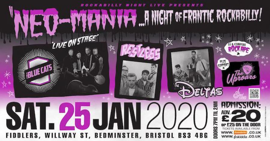 Neo-Mania, A Night of Frantic Rockabilly poster