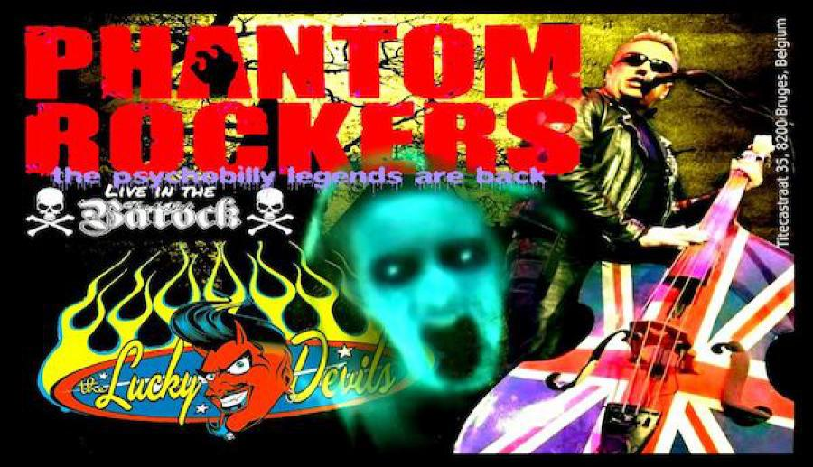 Phantom Rockers + The Lucky Devils poster