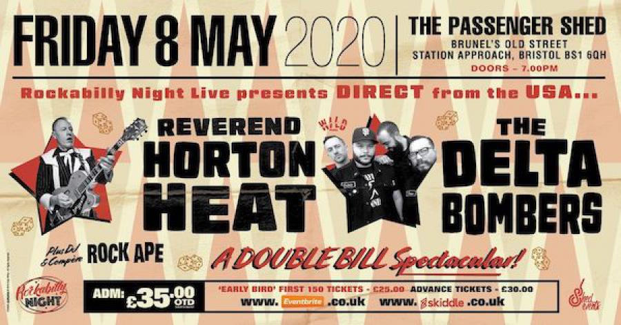 Reverend Horton Heat + The Delta Bombers & Support from The Strays poster