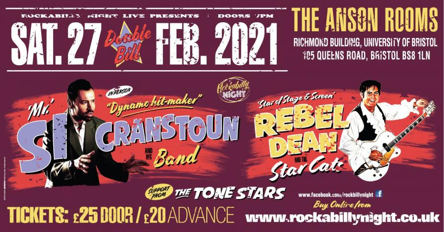 Si Cranstoun + Rebel Dean and the Star Cats poster