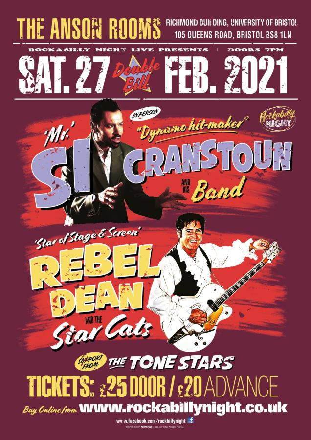 Si Cranstoun & Rebel Dean w/ support The Tone Stars poster
