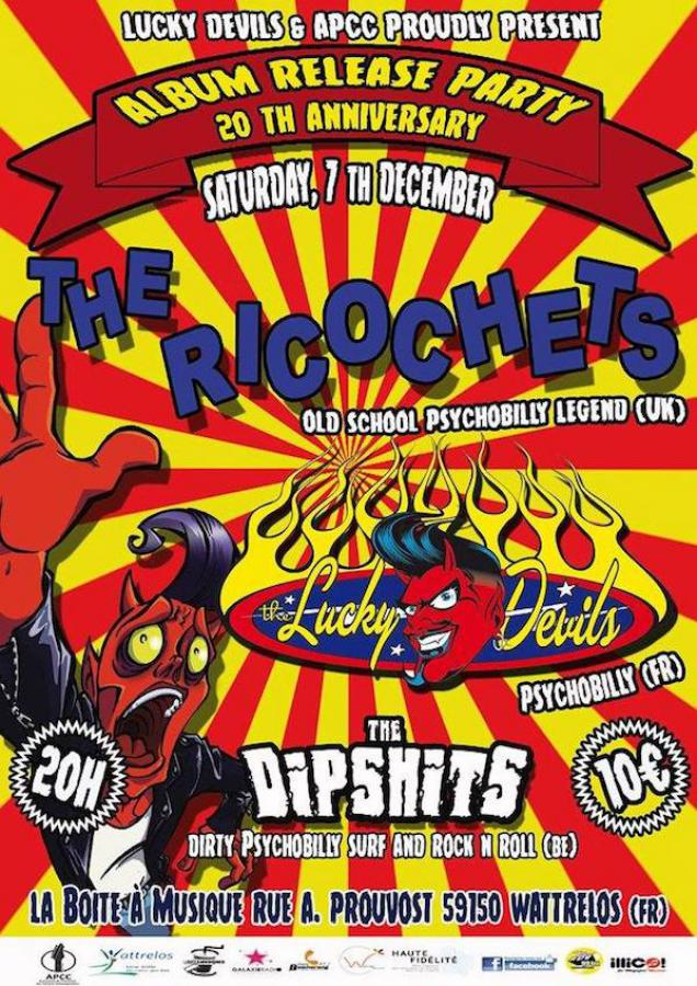 The Ricochets + The Lucky Devils + The Dipshits poster