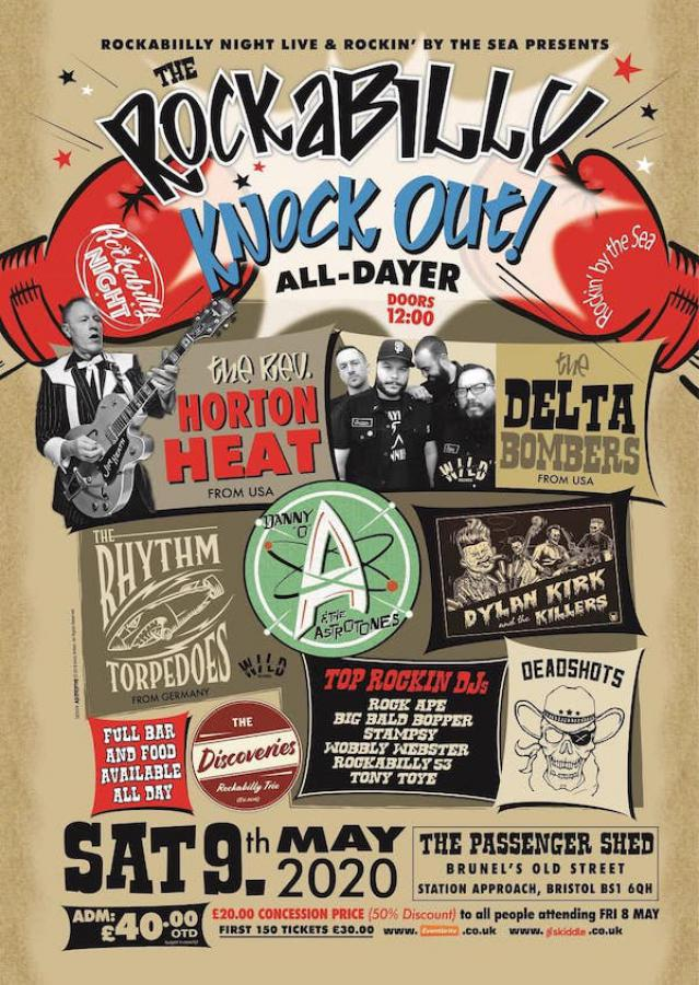 The Rockabilly Knock-Out All-Dayer poster