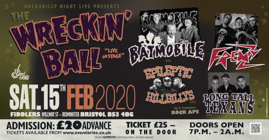 The Wrecking Ball - Psychobilly Extravaganza poster