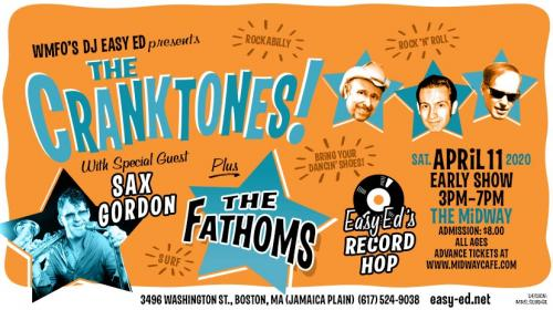 Cranktones + Fathoms + Sax Gordon