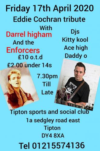 Eddie Cochran Tribute with Darrel Higham