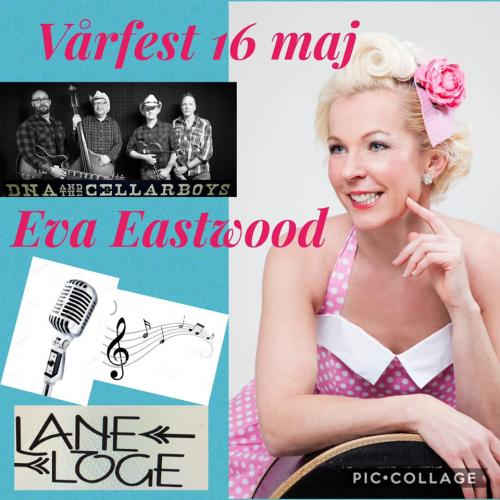 Eva Eastwood med band och DNA and the Cellarboys