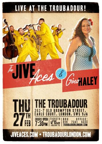 Gina Haley and The Jive Aces at The Troubadour