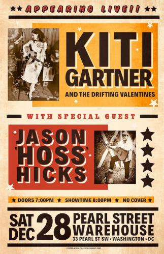 Kiti Gartner w/ Jason HOSS Hicks poster