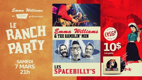 Le Ranch Party - Emma Williams & Les Spacebilly's