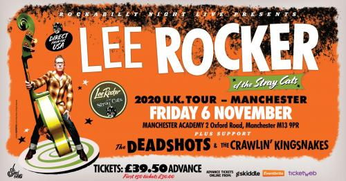 Lee Rocker (of The Stray Cats) + The Deadshots & The Crawlin' Kingsnakes
