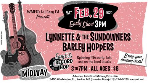 Lynnette & the Sundowners, Barley Hoppers, Easy Ed's Record Hop