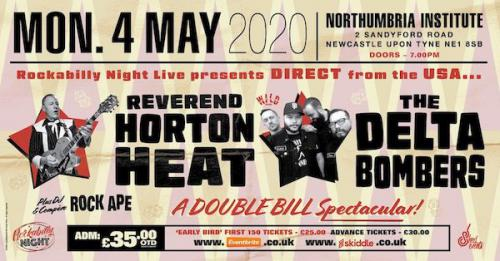 Reverend Horton Heat + Delta Bombers & Support from Red Hot Riot poster