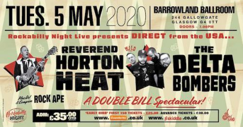 Reverend Horton Heat + Delta Bombers & Support from The Bikini Bottoms