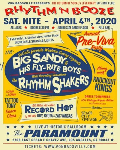 Rhythm 'N Booze w/ Big Sandy & His Fly-Rite Boys