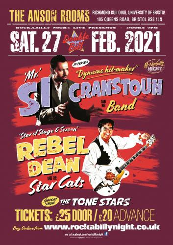 Si Cranstoun & Rebel Dean w/ support The Tone Stars