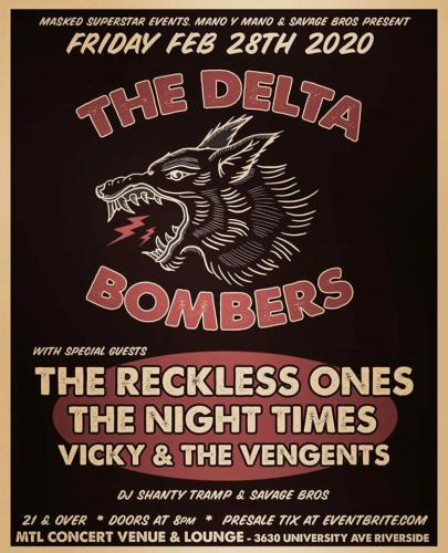The Delta Bombers plus guests @ MTL in Riverside