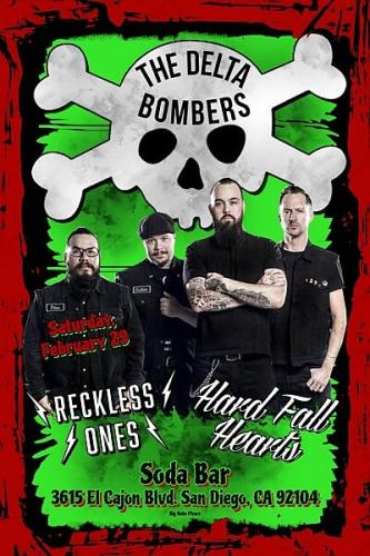 The Delta Bombers, Reckless Ones, Hard Fall Hearts @ Soda Bar