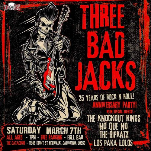 Three Bad Jacks anniversary party